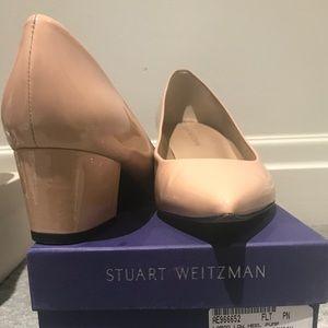 Stuart Weitzman nude block heel size 41
